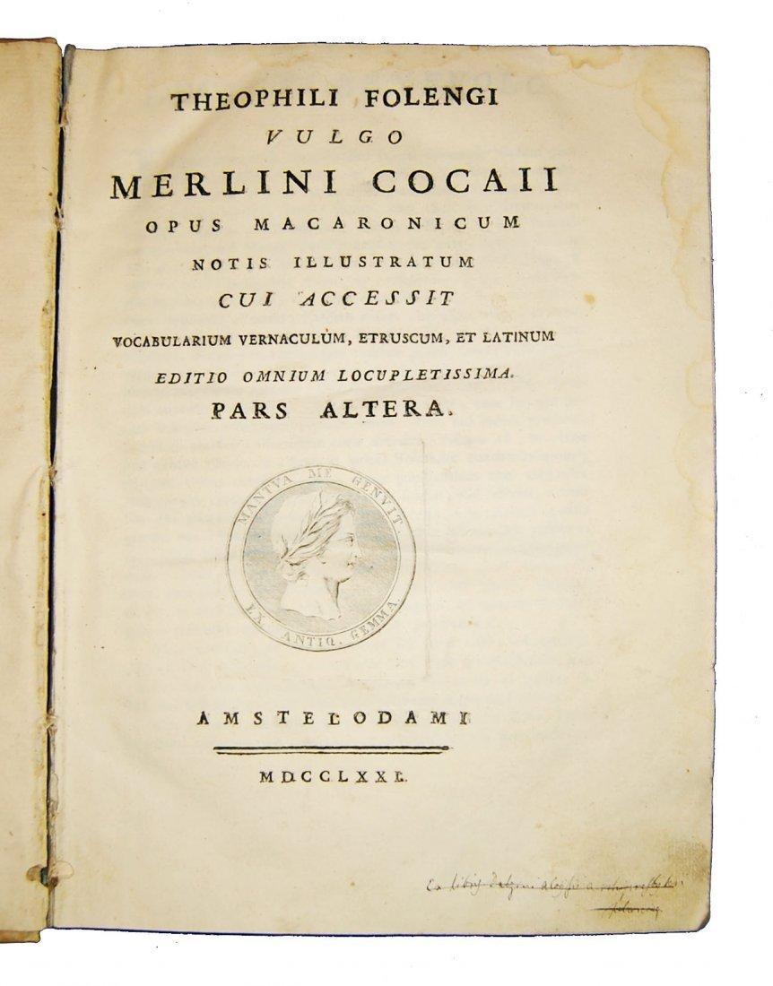 [Poetry] Folengo, Opus macaronicum, 1768-71, 2 v. - 7