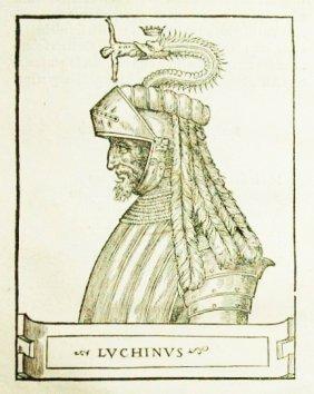 [visconti Family, Milan] Giovio (latin Ed), 1549