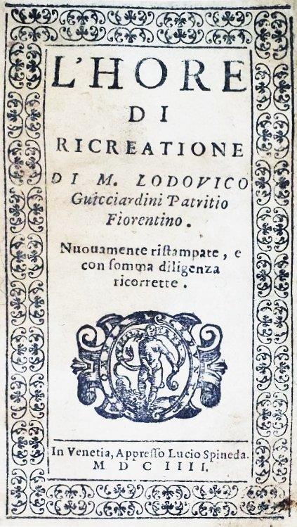 [Jokes and Sayings] Guicciardini, 1604