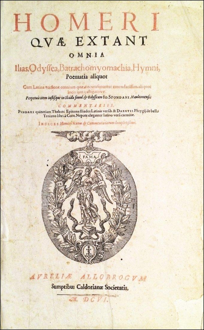 [Poetry, Greek Literature] Homer, 1606