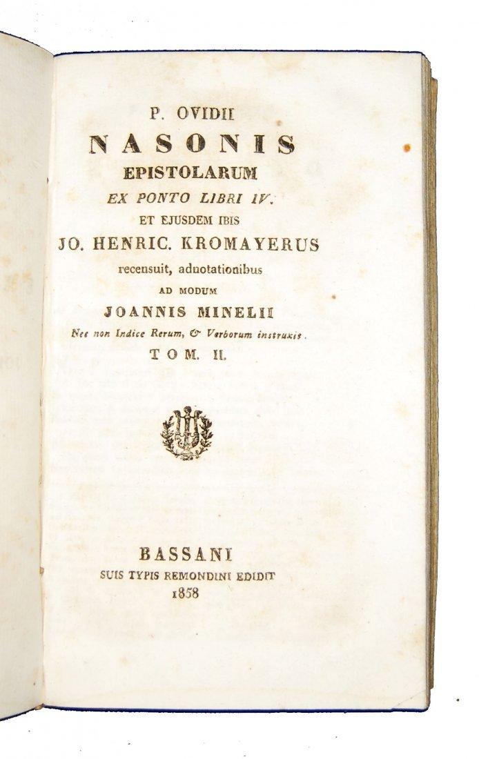 [Classics] Horatius-Ovidius-Vergilius, 1716-1858, 3 wks - 8