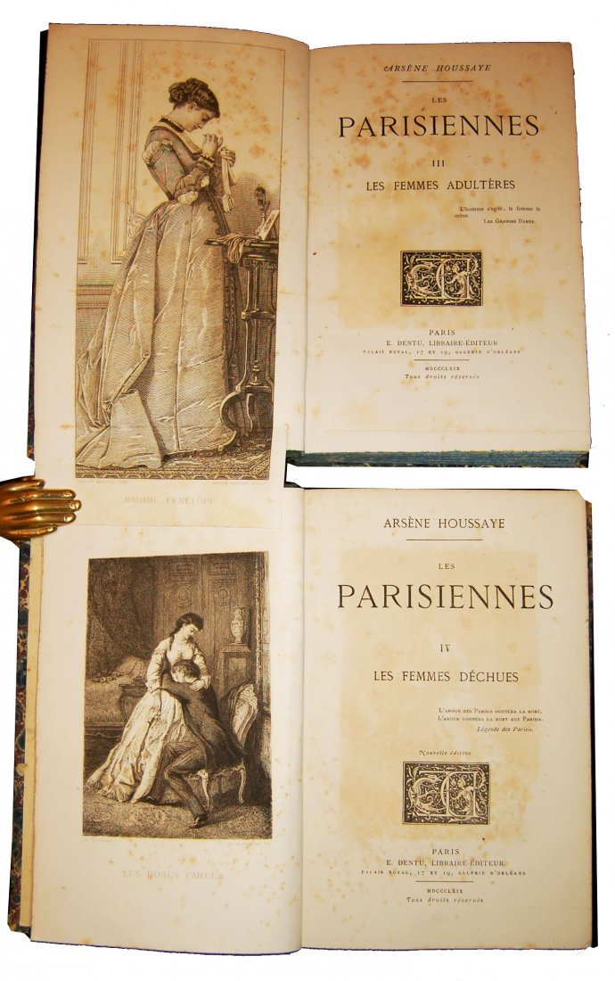 [Novels, Women] Houssaye, 1868, 4 works, 14 vols - 3