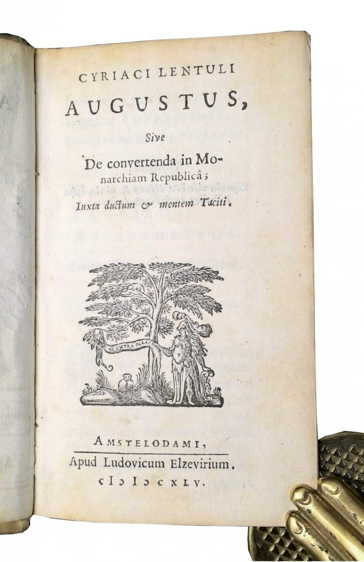 [Roman History, Politics, Elzevier] Lentulus, 1645 - 3