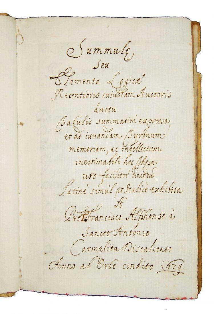 [Manuscripts, Logic, Fermo] Summule, 1679 - 2