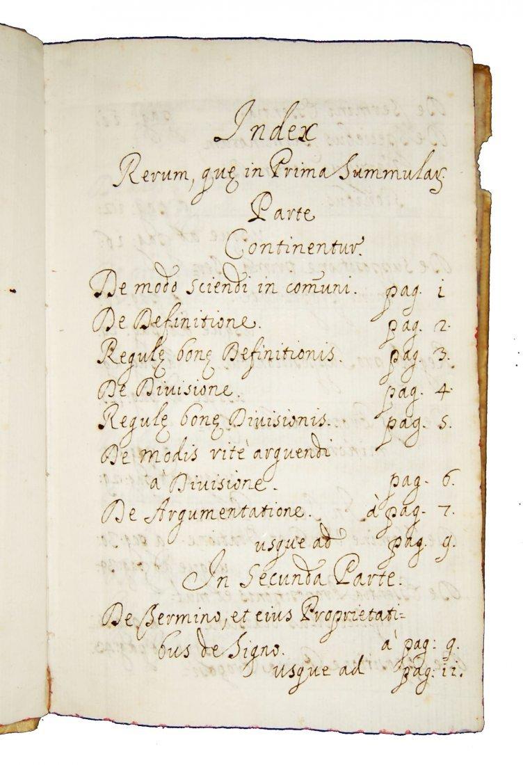 [Manuscripts, Logic, Fermo] Summule, 1679 - 5