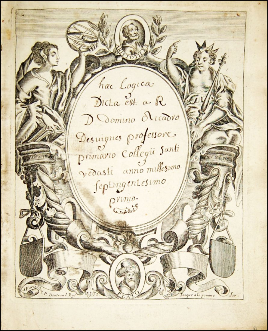 [Manuscripts, Logic, Engravings] Desvignes, 1701