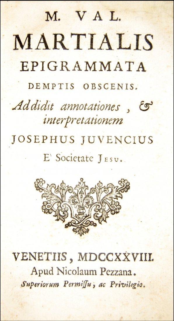 [Classics, Epigrams] Martialis, Epigrammata, 1728