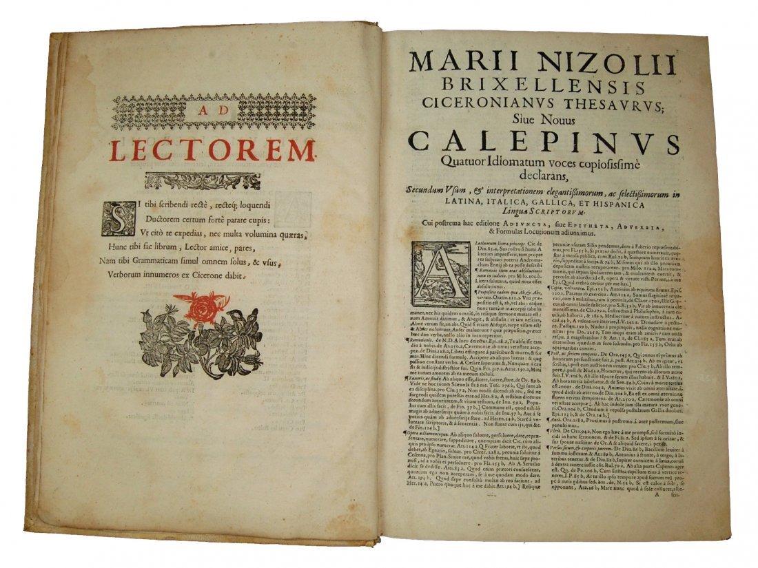 [Dictionaries] Nizzoli, Thesaurus Ciceronianus, 1606 - 4