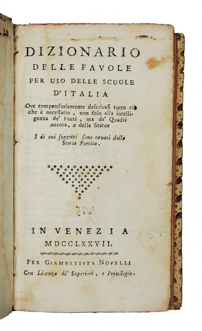[Fables, Tales] Pasini, Dizionario delle favole, 1777 - 2