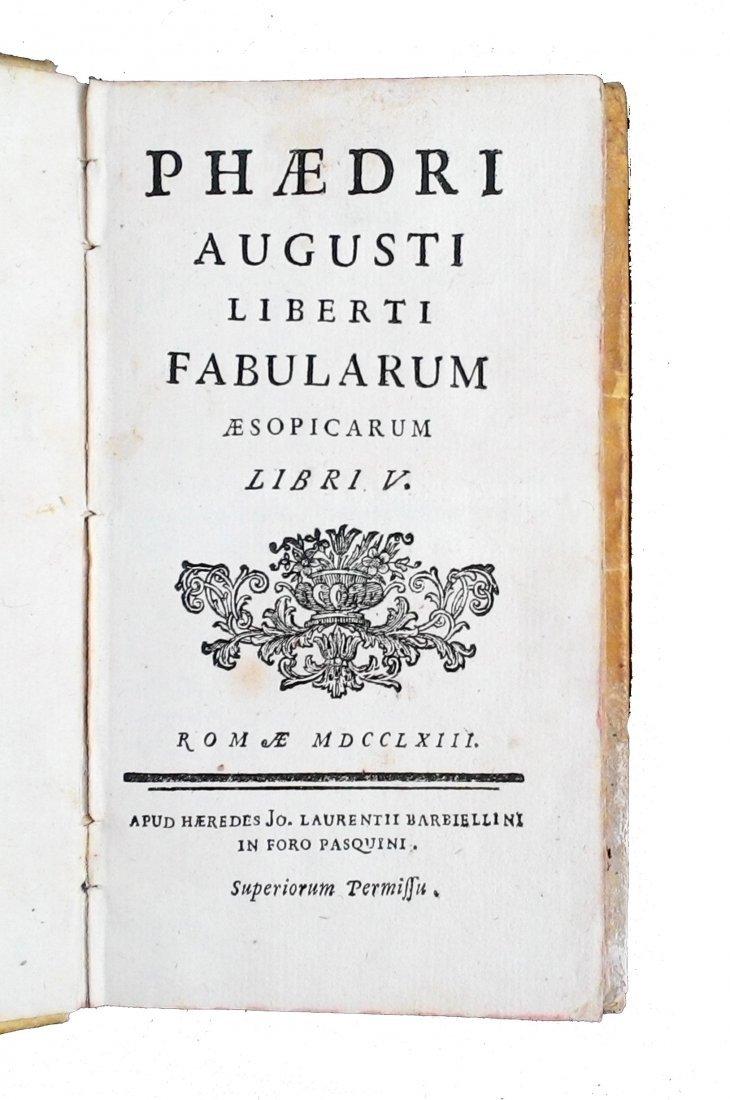 [Fables, Tales] Pasini, Dizionario delle favole, 1777 - 5