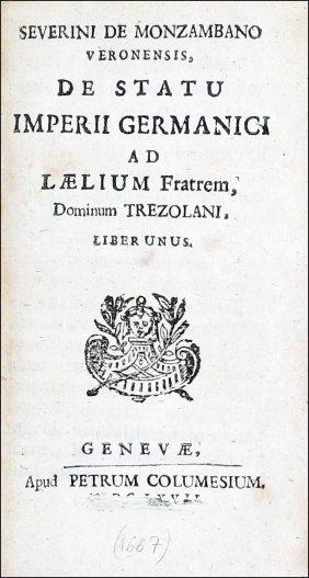 [german History] Pufendorf (severinus), 1667
