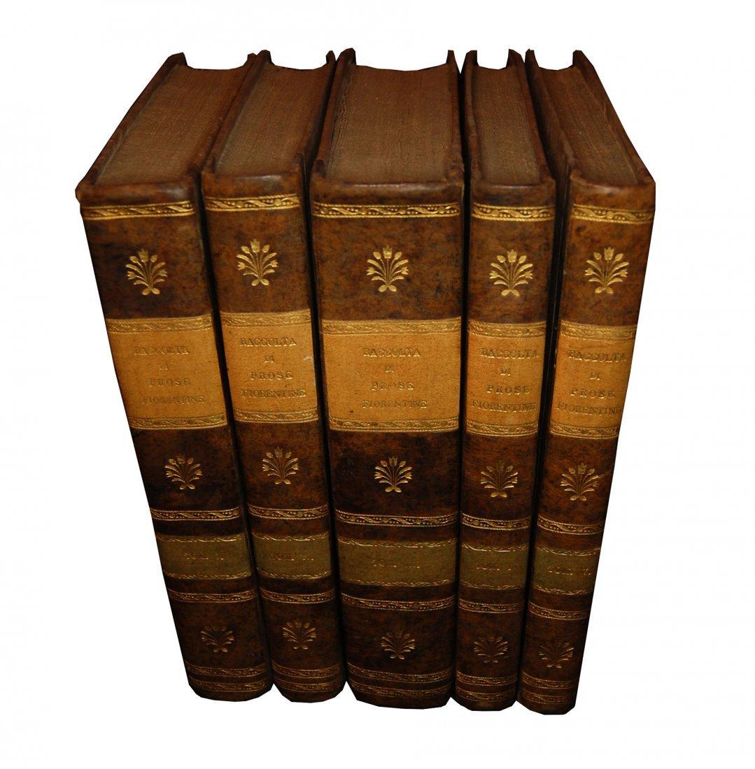 [Prose, Florence] Various A., Prose fiorentine 1735 5 v