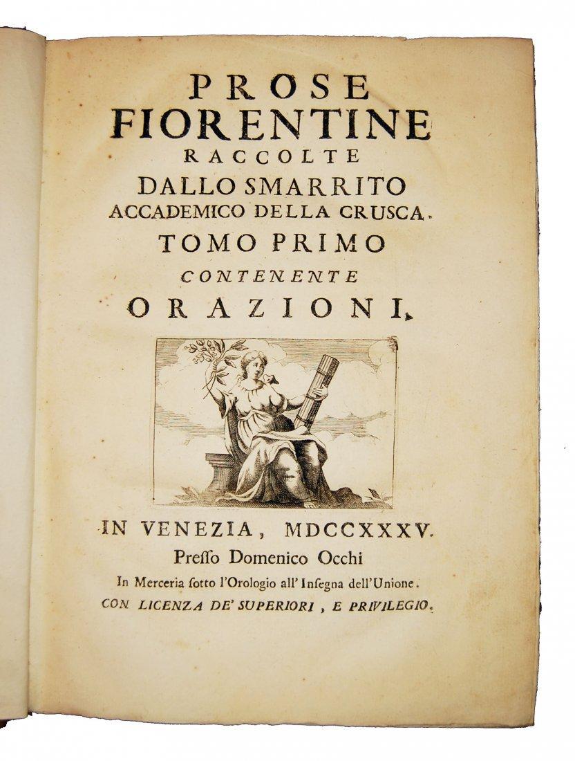 [Prose, Florence] Various A., Prose fiorentine 1735 5 v - 2
