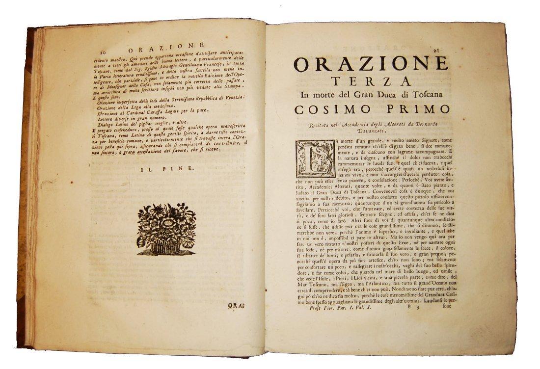 [Prose, Florence] Various A., Prose fiorentine 1735 5 v - 3