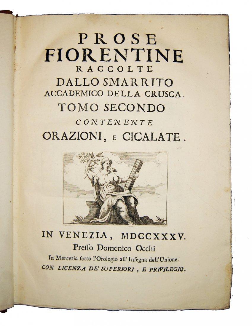 [Prose, Florence] Various A., Prose fiorentine 1735 5 v - 4