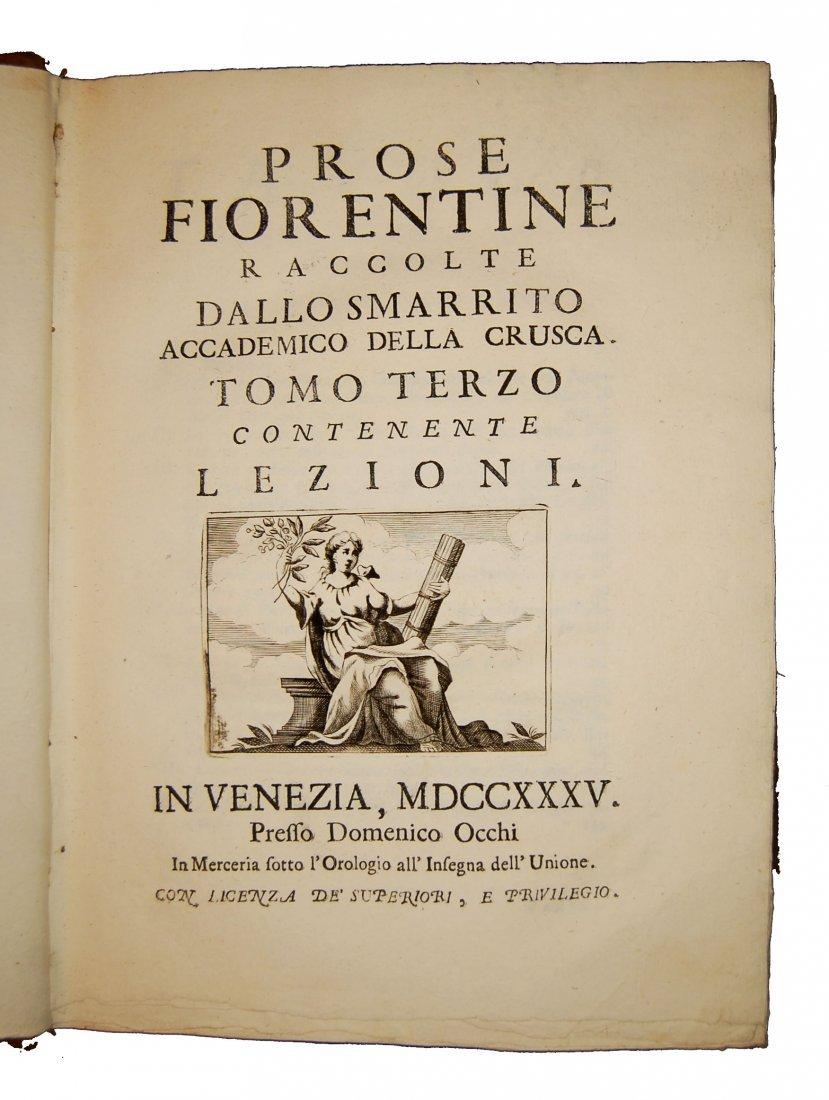 [Prose, Florence] Various A., Prose fiorentine 1735 5 v - 5