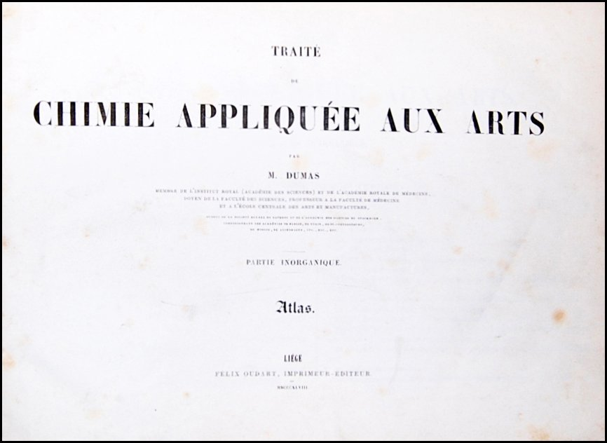 [Chemistry] Dumas, 1847-1848, 2 vol.