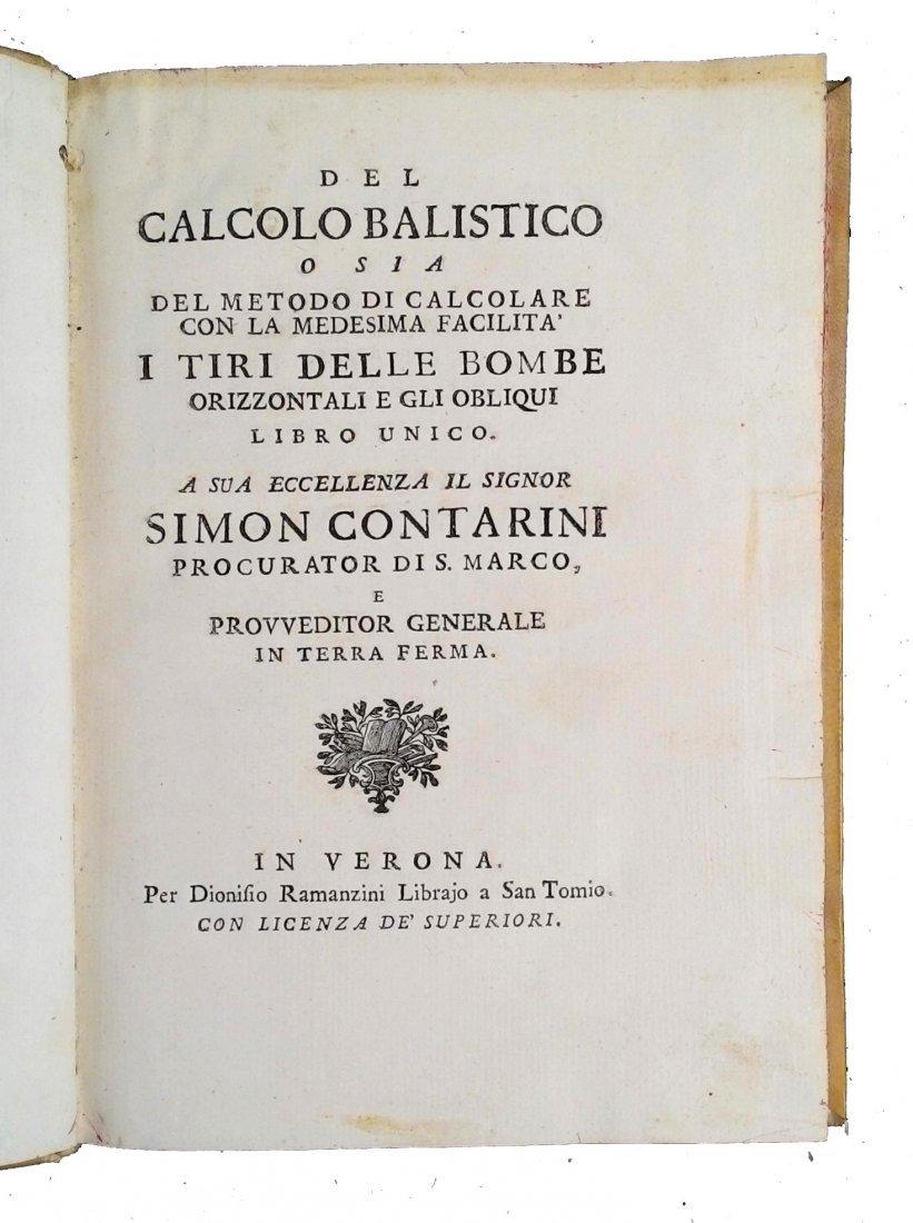 [Science of War, Balistic] Marzagaglia, 1748 - 2