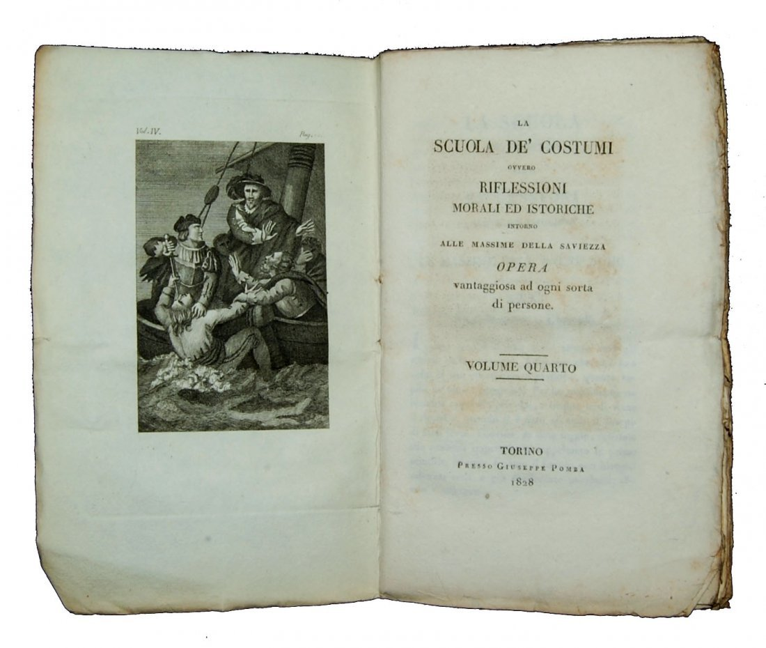 [Ethics] Blanchard, Scuola de' costumi 1825-8, 4 (+2) v - 6