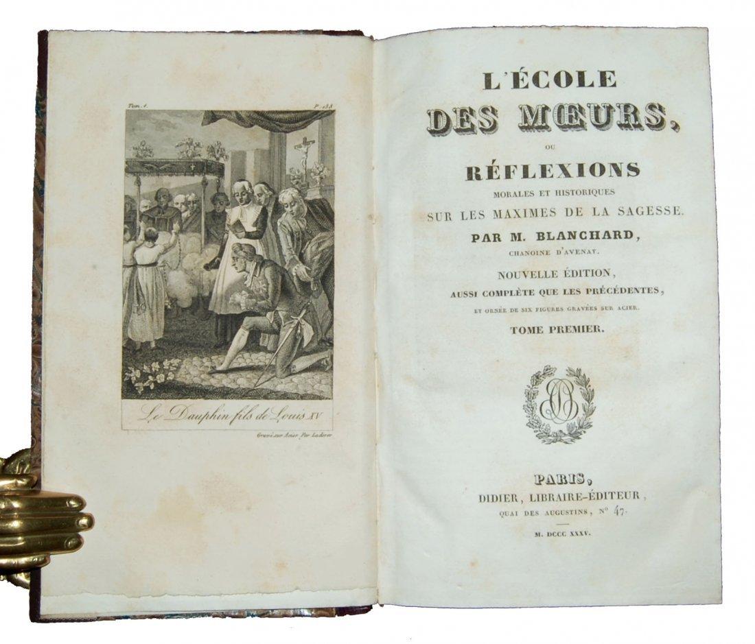 [Ethics] Blanchard, Scuola de' costumi 1825-8, 4 (+2) v - 8