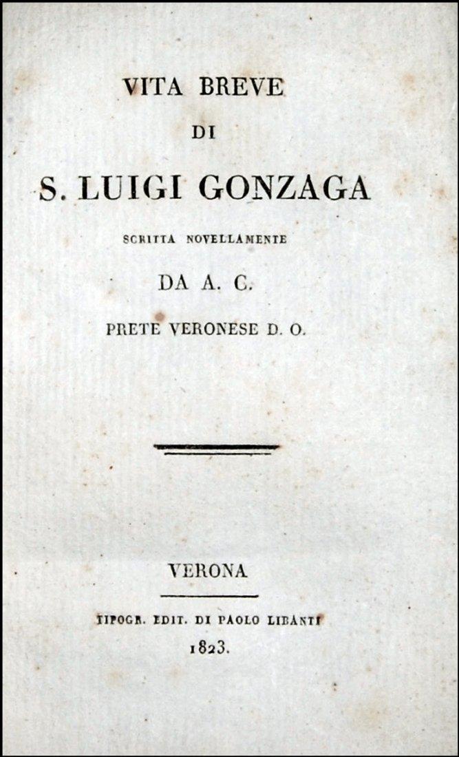 [Jesuits, St. Aloysius Gonzaga] Cesari, Vita, 1823