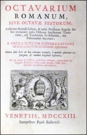[liturgy, Feasts] Octavarium Romanum, 1713