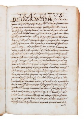 [manuscripts, Incarnation] Anonymous, Early 1700