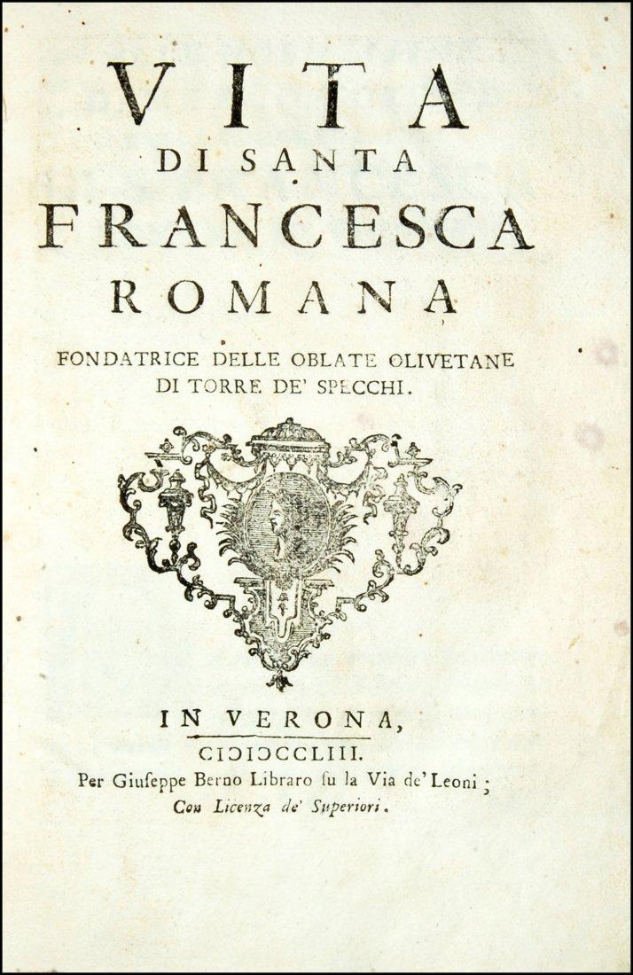 [Saints, Lives, St. Frances of Rome] Cepari, 1753 - 2