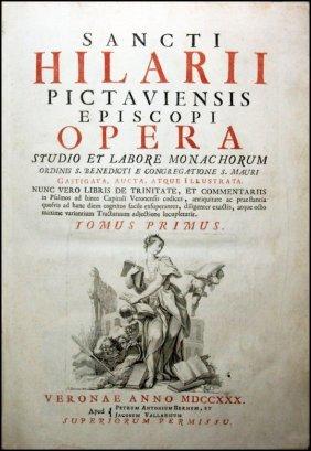 [saints' Works, St. Hilary] Opera, 1730, 2 V