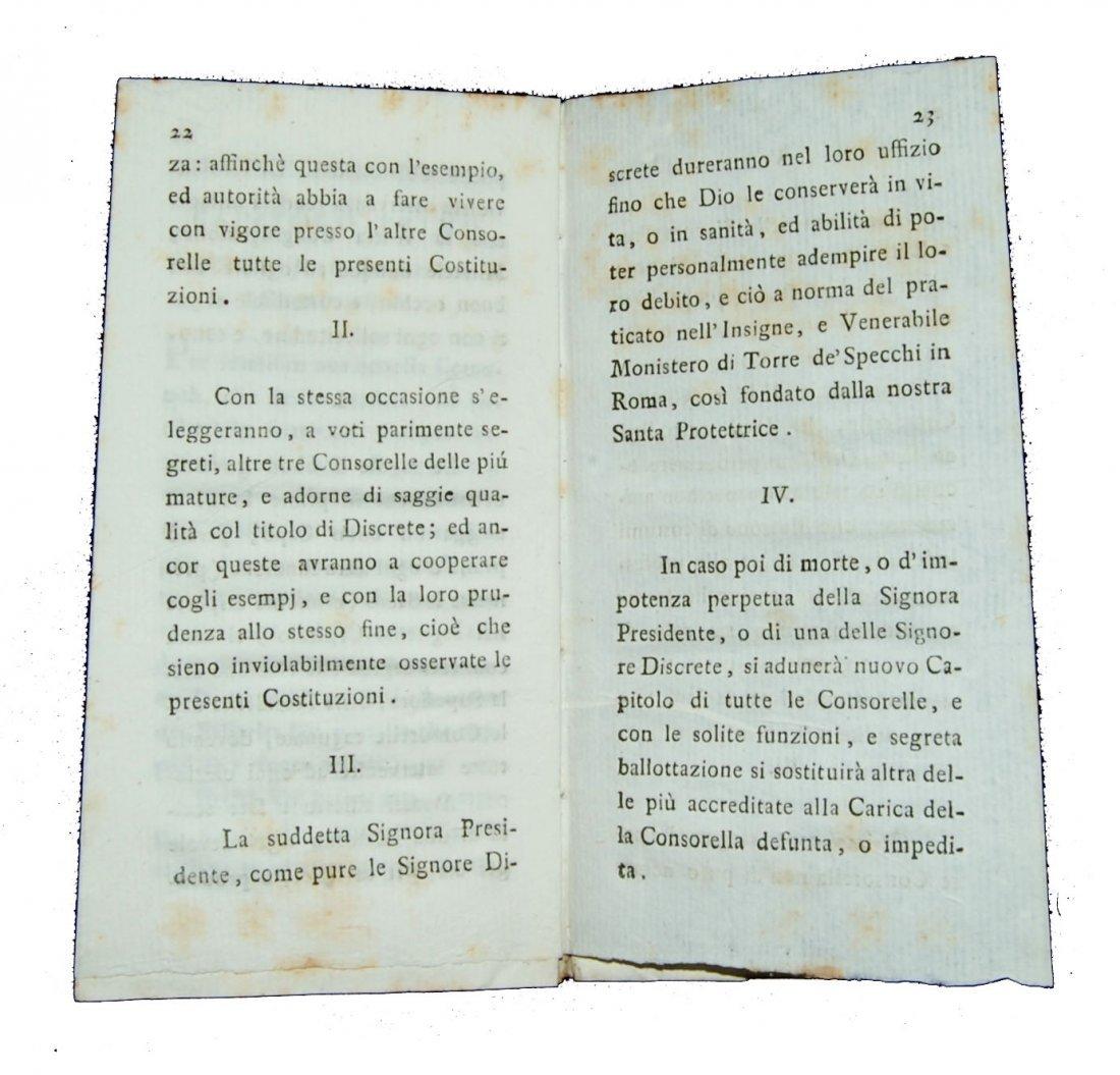 [Statutes, Congregations, Verona] Dame, 1803 - 3