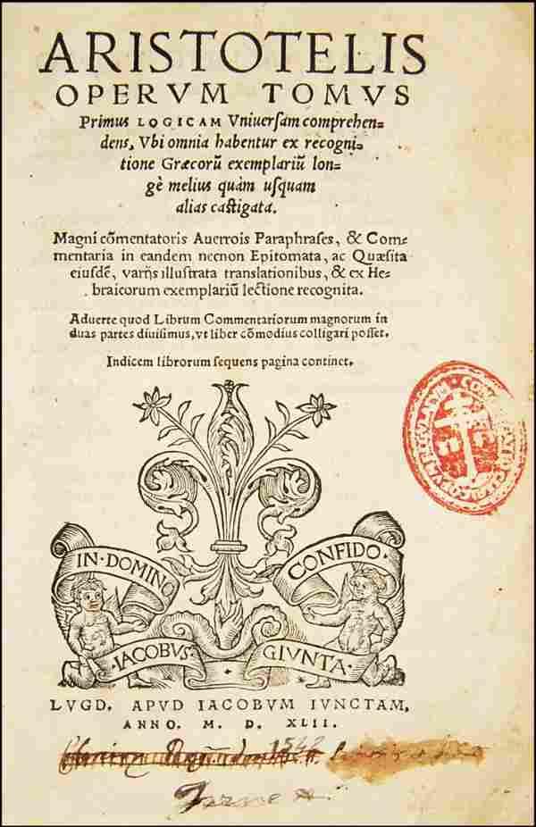 [Philosophy] Aristoteles, Opera, 1542, 2 vols
