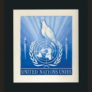 UN Artist's Drawing by Louis Schwimmer