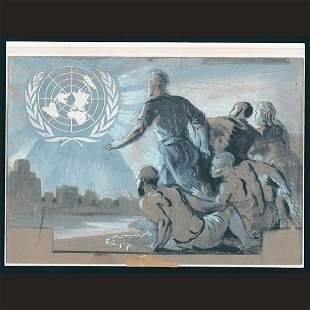 UN Preliminary Sketch By O.C. Meronti