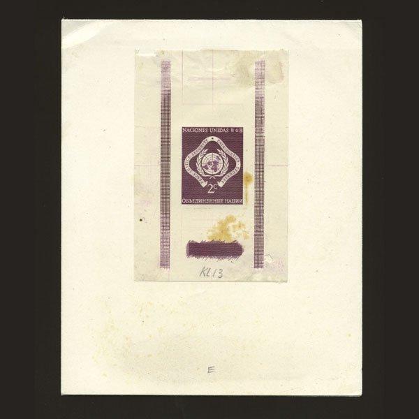 1017: UN 2c Emblem in shade of Purple like 2c