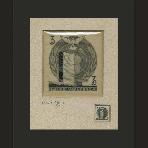 1022: UN Artist's Drawing By Leon Helguera