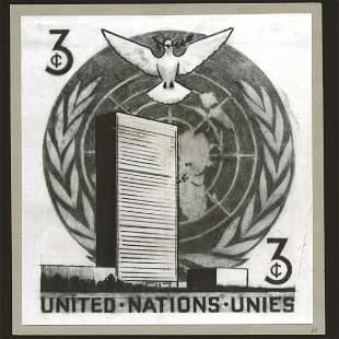 UN 3c UN HQ Building with Dove - unique