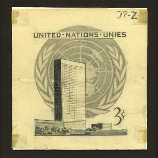 UN Artist's Drawing By Leon Helguera