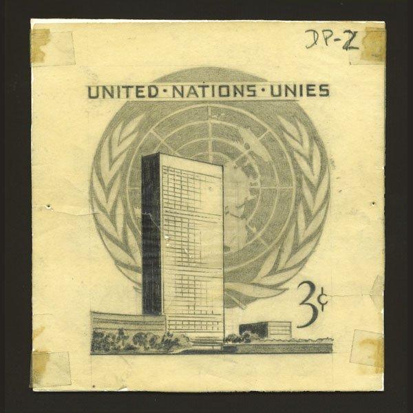 1024: UN Artist's Drawing By Leon Helguera