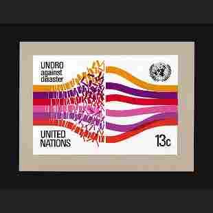 UN Artist's Drawing by Bill Hine-