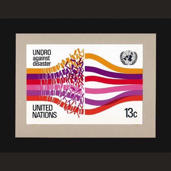 2433: UN Artist's Drawing by Bill Hine-