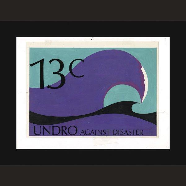 2434: UN Artist's Drawing by H. Simon- Wave