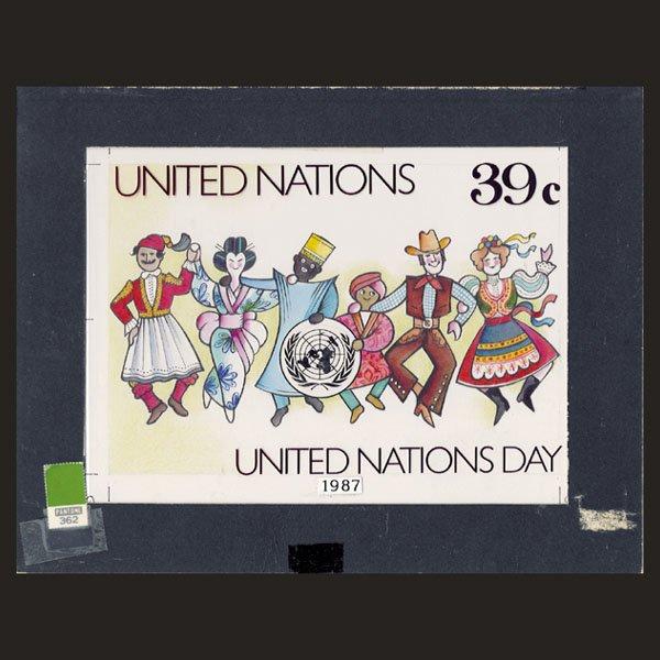 3121: UN Drawing by E. von Janota-Bzowski
