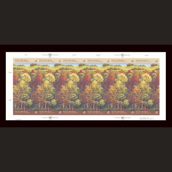 3141: UN Imperf Plate Proof - Se-tenant Sheet