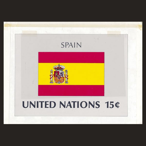 3169: UN Artist's Drawing for 15c Spain Flag