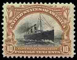 #299, 10c Pan-American,