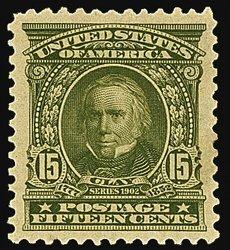 1724: #309, 15c Olive green,