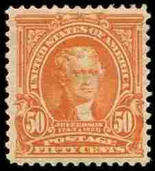 #310, 50c Orange,