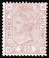 #67, 1876-80 2½p Claret,