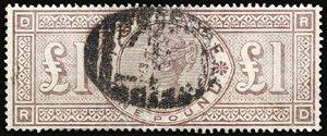 2801: #124, 1891 £1 Green,