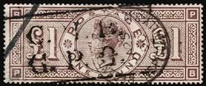 #124, 1891 £1 Green,